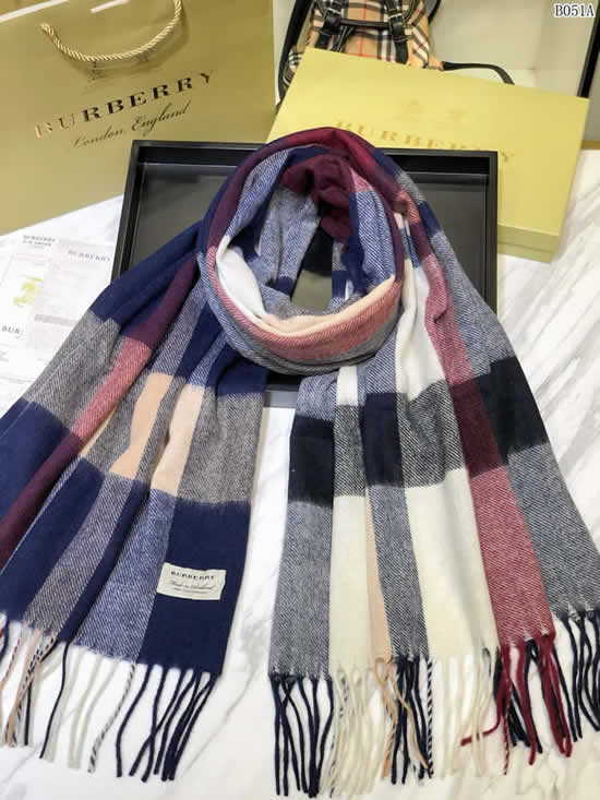 Women Scarves Autumn Winter New Female Wool Scarf Fake Burberry Scarves 23