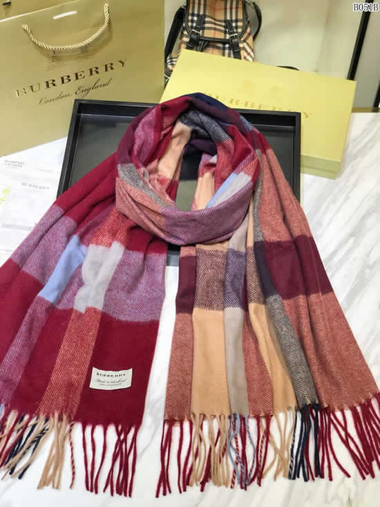 Women Scarves Autumn Winter New Female Wool Scarf Fake Burberry Scarves 24