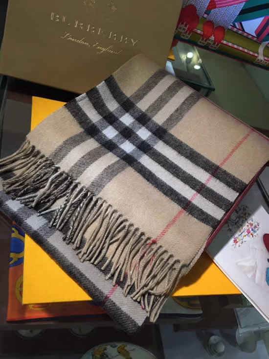 Women Scarves Autumn Winter New Female Wool Scarf Fake Burberry Scarves 25