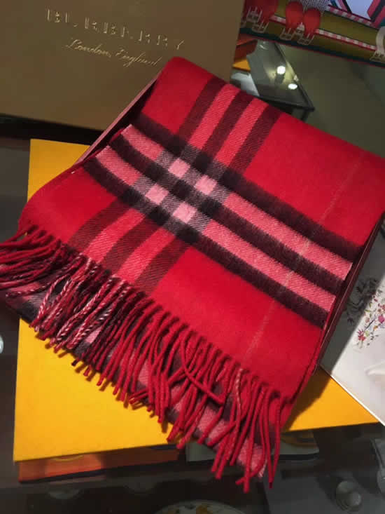 Women Scarves Autumn Winter New Female Wool Scarf Fake Burberry Scarves 26