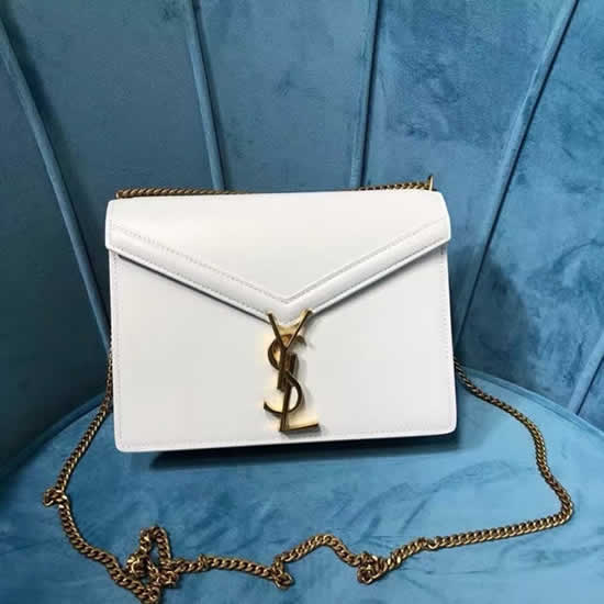 Fake Yves Saint Laurent New Cassandra Monogram White Flap Bag