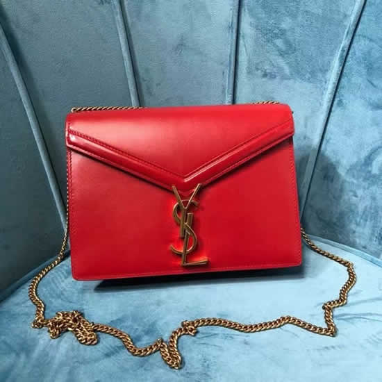 Fake Yves Saint Laurent New Cassandra Monogram Red Flap Bag