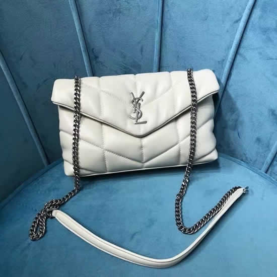 Fake Yves Saint Laurent Loulou Puffer Sheepskin Silver Hardware Mini Bag